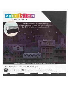 "Black Textured Precision Cardstock 12"" x 12"" - American Crafts"