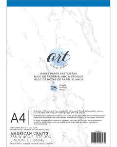 White Paper Sketch Pad, A4 - Art Supply Basics - American Crafts