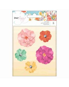 She's Magic Dimensional Flowers -Stickers - Dear Lizzy - American Crafts