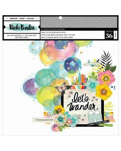Let's Wander Mixed Media Background Papers - Vicki Boutin - American Crafts*