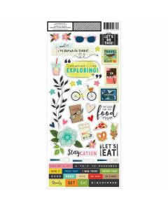 """Let's Wander 6"""" x 12"""" Stickers - Vicki Boutin - American Crafts*"""