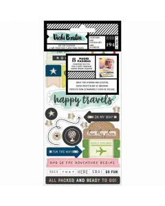 Let's Wander Sticker Book - Vicki Boutin - American Crafts