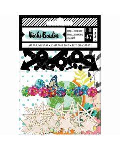 Let's Wander Embellishment Pack - Vicki Boutin - American Crafts*
