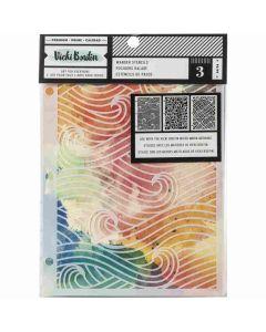 Let's Wander Mixed Media Stencils - Vicki Boutin - American Crafts*