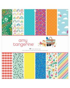 """Picnic in the Park 12"""" x 12"""" Paper Pad - Amy Tangerine - American Crafts*"""