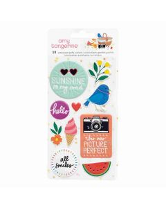 Picnic in the Park Embossed Puffy Stickers - Amy Tangerine - American Crafts*