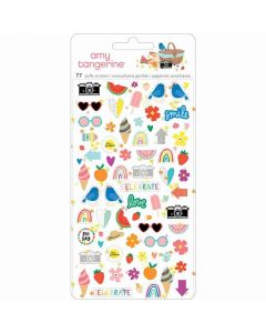 Picnic in the Park Mini Puffy Stickers - Amy Tangerine - American Crafts*