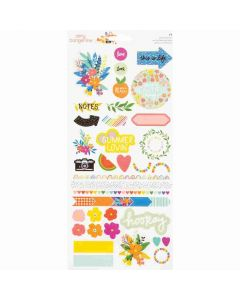 """Picnic in the Park 6"""" x 12"""" Stickers - Amy Tangerine - American Crafts*"""