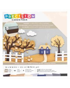 "Neutral Smooth Precision Cardstock 12"" x 12"" - American Crafts"
