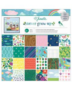 """Never Grow Up 12"""" x 12"""" Paper Pad - Shimelle*"""