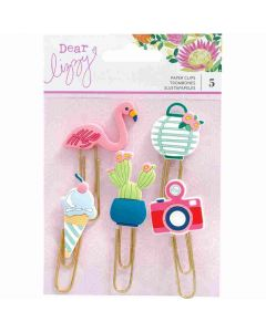 Here and Now Rubber Paper Clips - Dear Lizzy*