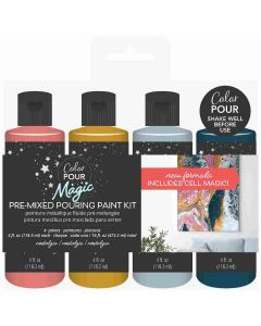 Nostalgia Pouring Paint Kit - Color Pour Magic - American Crafts*