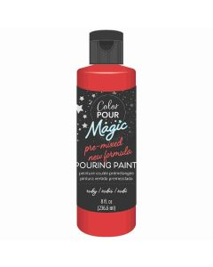 Ruby Pre-Mixed Paint - Color Pour Magic - American Crafts*