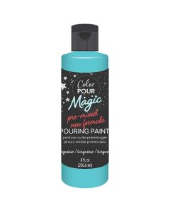 Turquoise Pre-Mixed Paint - Color Pour Magic - American Crafts*