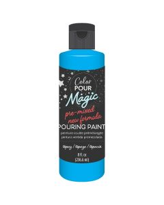 Topaz Pre-Mixed Paint - Color Pour Magic - American Crafts*