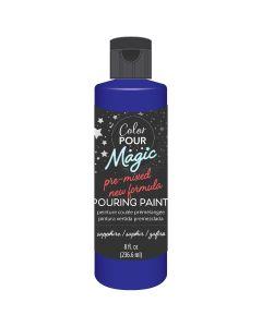 Sapphire Pre-Mixed Paint - Color Pour Magic - American Crafts*