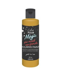Metallic Gold Pre-Mixed Paint - Color Pour Magic - American Crafts*