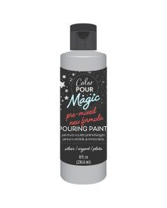 Metallic Silver Pre-Mixed Paint - Color Pour Magic - American Crafts*