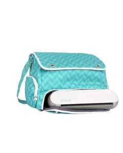 Teal Silhouette Portrait tote