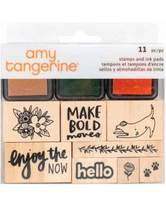 Slice of Life Wooden Stamps & Ink Pads - Amy Tangerine - American Crafts