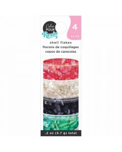 Primary Shell Flakes - Color Pour Resin - American Crafts*