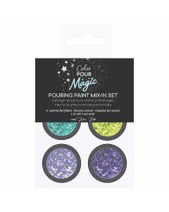 Cool Foil Flakes Pouring Paint Mix-In Set - Color Pour Magic - American Crafts*