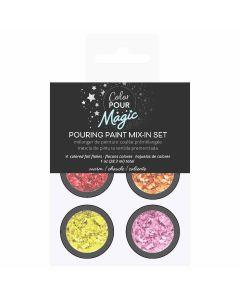 Warm Foil Flakes Pouring Paint Mix-In Set - Color Pour Magic - American Crafts
