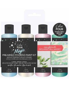 Opal Flux Pouring Paint Kit - Color Pour Magic - American Crafts*