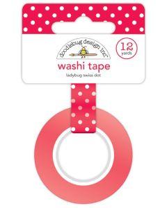 Ladybug Swiss Dot Washi Tape - Monochromatic - Doodlebug