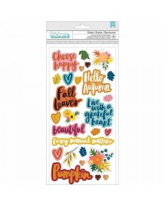 Grateful Phrase Foam Thickers - Late Afternoon - American Crafts*