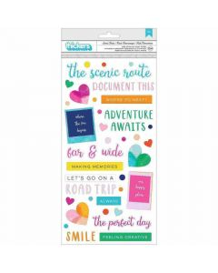 Go the Scenic Route Puffy Phrase Thickers - American Crafts*