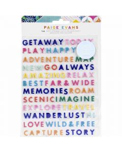 Go the Scenic Route Puffy Word Thickers - American Crafts*