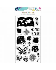 Go the Scenic Route Acrylic Stamps - American Crafts*