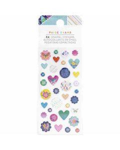 Go the Scenic Route Enamel Stickers, Iridescent Glitter - American Crafts*