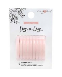 Blush Planner Discs (Medium) - Day-to-Day - Crate Paper*