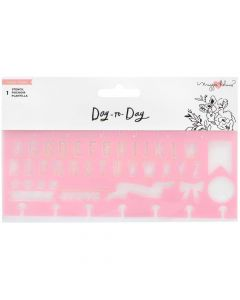Day-to-Day Alphabet Stencil - Crate Paper*