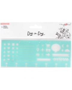 Day-to-Day Planner Disc Stencil - Crate Paper
