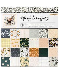 "Fresh Bouquet 12"" x 12"" Paper Pad - Crate Paper"