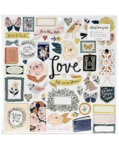 Fresh Bouquet Chipboard Stickers - Crate Paper