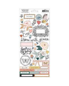 Fresh Bouquet Sticker Sheet - Crate Paper