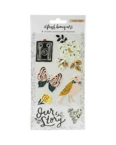 Fresh Bouquet Embossed Stickers - Crate Paper