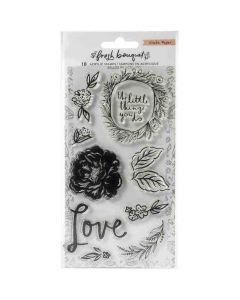 Fresh Bouquet Acrylic Stamp Set - Crate Paper