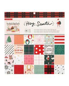 "Hey, Santa 12"" x 12"" Paper Pad - Crate Paper*"