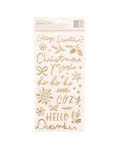 Hey, Santa Accent & Phrase Thickers - Crate Paper*