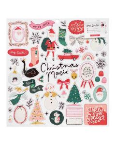 Hey, Santa Chipboard Stickers - Crate Paper*