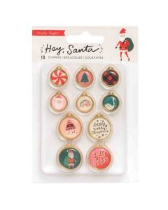 Hey, Santa Epoxy Icon & Metal Charms - Crate Paper*