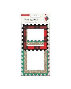 Hey, Santa Pom Pom Frames - Crate Paper*
