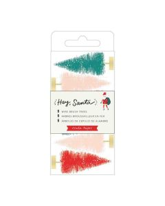 Multicolor Wire Brush Trees - Hey, Santa - Crate Paper*