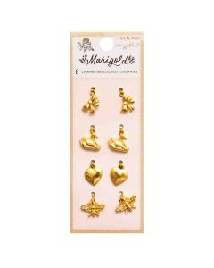 Marigold Gold Icon Charms - Crate Paper*