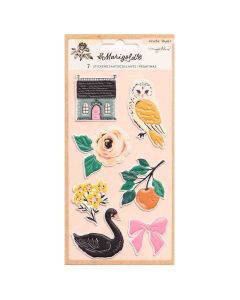 Marigold Embossed Puffy Stickers - Crate Paper*